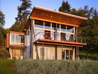 Строительство домов с односкатной крышей