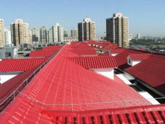 Пластиковая кровля для крыши